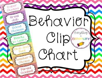 Classroom Clip Chart {Chevron Style}