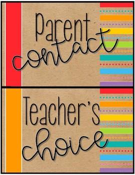 Classroom Clip Chart {Multi-color & Brown Bag}