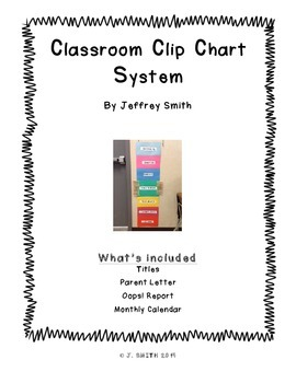 Classroom Clip Chart System