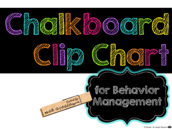 Classroom Clip Chart for Behavior Management {Chalkboard +