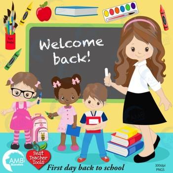 Classroom Clipart, BACK TO SCHOOL Clipart, {Best Teacher Tools} AMB-1401