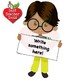 Classroom Clipart, Multicultural Kids Clipart with Banners, AMB-2301