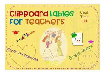 Classroom Clipboard Lbales