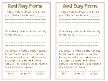 Classroom Clipchart with behavior form CAMPING THEMED