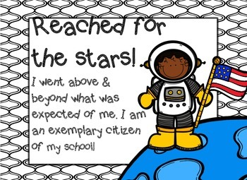 Classroom Clipchart with behavior form SPACE THEMED