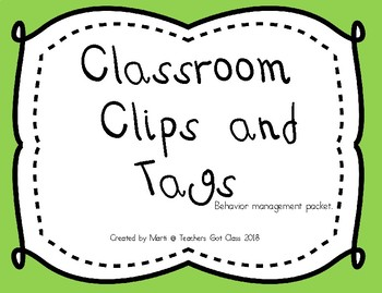 Classroom Clips and Tags