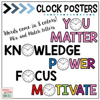 Classroom Clock Decor - Motivational - Inspirational