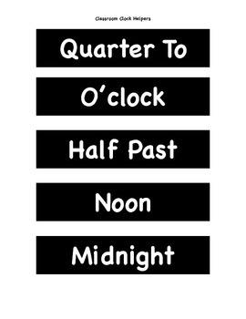 Classroom Clock Helpers