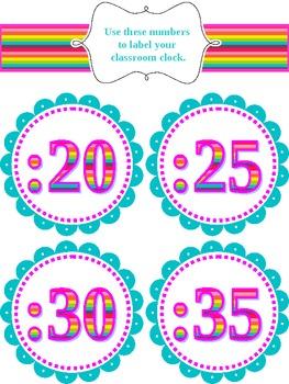 Classroom Clock Labels 2