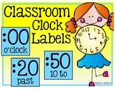Classroom Clock Labels