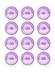 Classroom Clock Labels - Purple Geometric