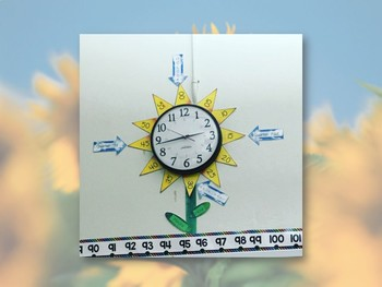 Classroom Clock Labels - Sun Flower