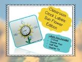 Classroom Clock Labels - Sun Flower