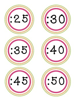 Classroom Clock Numbers For Telling Time