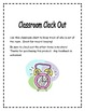 Classroom Clock Out