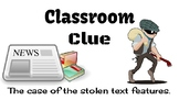 Classroom Clue: The case of the missing text features
