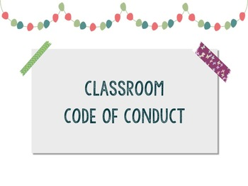 Classroom Code of Conduct - List of 10 (Rhyming) Rules!