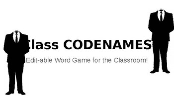 Classroom Codenames Game