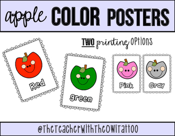 Classroom Color Posters (Apple theme)