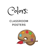 Classroom Color Posters: Art Themed