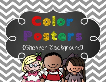 Classroom Color Posters {Chevron Theme}