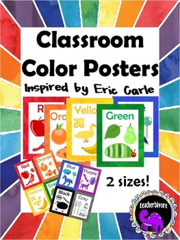 Classroom Color Posters - Inspired by Eric Carle