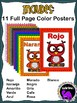 Classroom Color Posters - Owl Theme