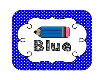 Classroom Color Posters {Polka Dot Theme}