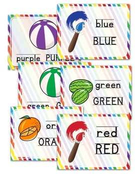 Color Samples with Words and Pictures -  Posters -Bunting - Banners - Pennants