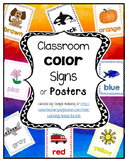 Classroom Color Signs or Posters