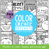 Classroom Coloring Posters - Edition 7 {Fruit Fun}