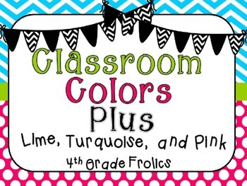 Classroom Colors Plus - Pink, Turquoise, and Lime
