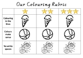 Classroom Colouring Rubric