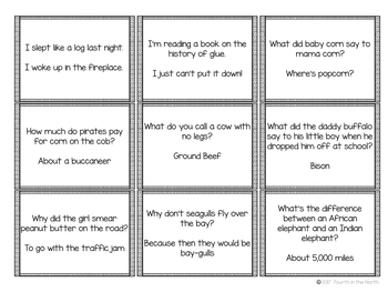 Classroom Comedy Club Cards!  Building a Classroom Community One Joke at a Time