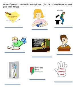 Classroom Commands/Los mandatos de la clase bundle