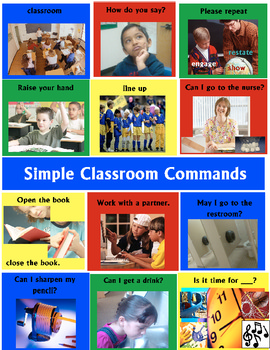 Classroom Commands Student Chart