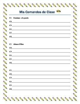 Classroom Commands - Play Simon Says in Spanish-Great ICE Breaker