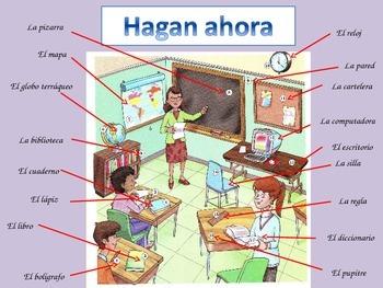 Classroom Commands in Spanish/ Los mandatos en español