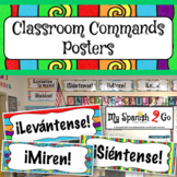 Classroom Commands in Spanish Posters