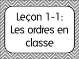 First Day of French Class Lesson 1:Classroom Commands/Les ordres TPR Lesson Plan