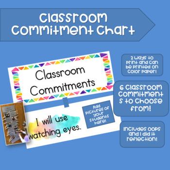 Classroom Commitment Chart
