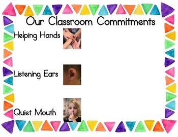Classroom Commitment Chart- Resource Room