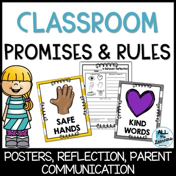 Classroom Promises & Rules (Editable) Behavior Reflections