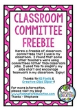 Classroom Committees FREEBIE!