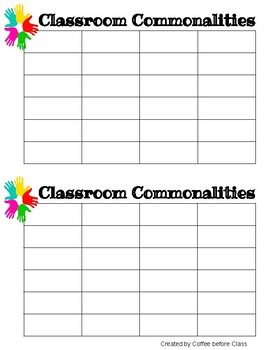 Classroom Commonalities!
