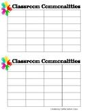 Classroom Commonalities!
