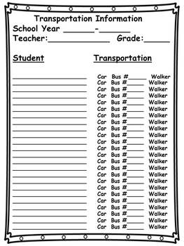 Classroom Communication Forms