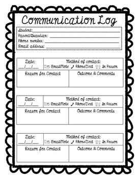 Communication Logs [FREEBIE]
