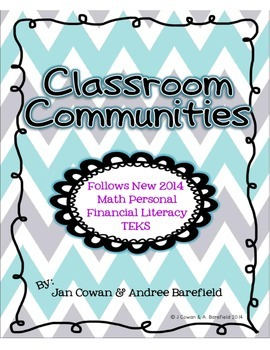 Classroom Communities ~ Alligned with Person Finance Liter