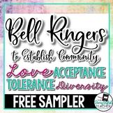 Classroom Community Bell Ringers: FREE SAMPLER